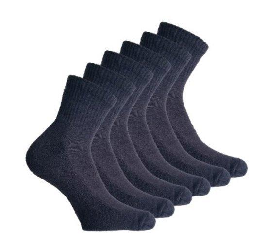 6 paar Bonanza badstof quarter sneakersokken - grijs