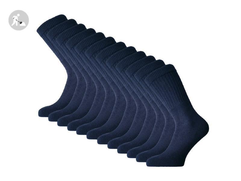 12 paar SQOTTON Werksokken - Heavy - Marineblauw
