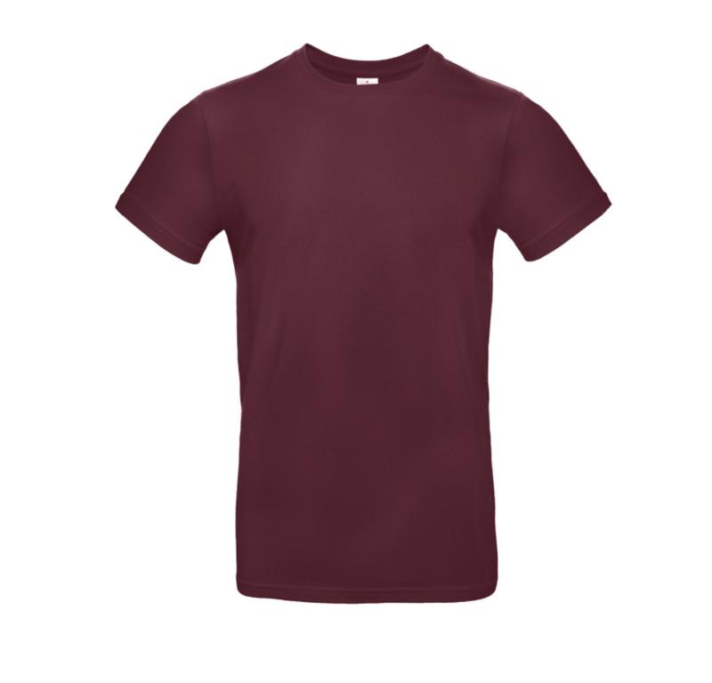 B&C Basic T-shirt E190 - Burgundy