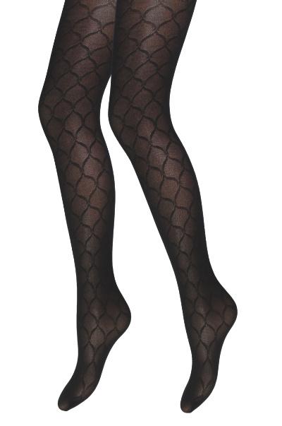 Panty - Argyle - Zwart - Geruit motief