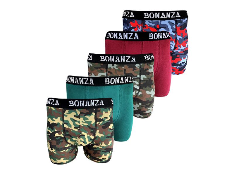 Bonanza boxershorts - 5 Pack - Katoen - Casual/Military