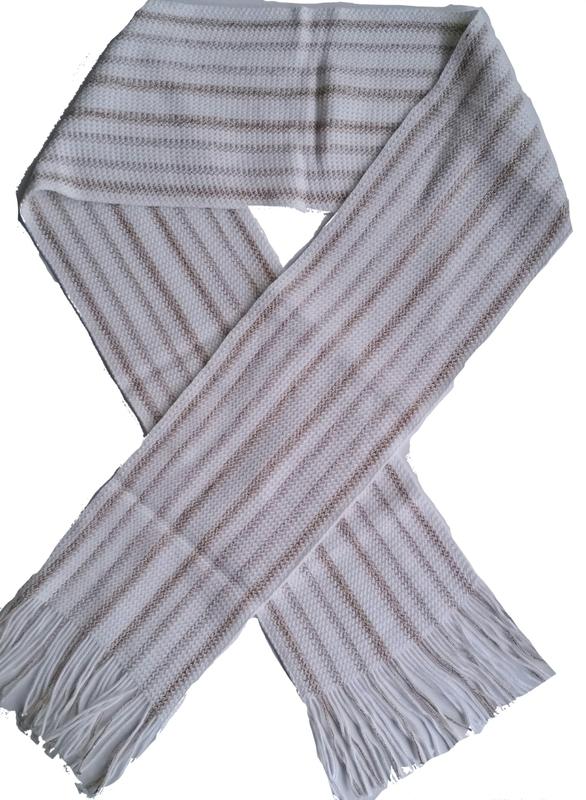 Sjaal wit goud streep
