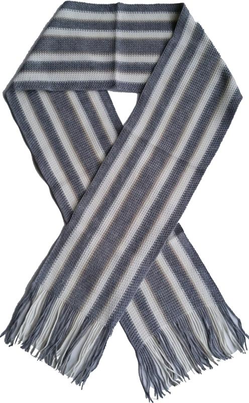Sjaal grijs wit streep
