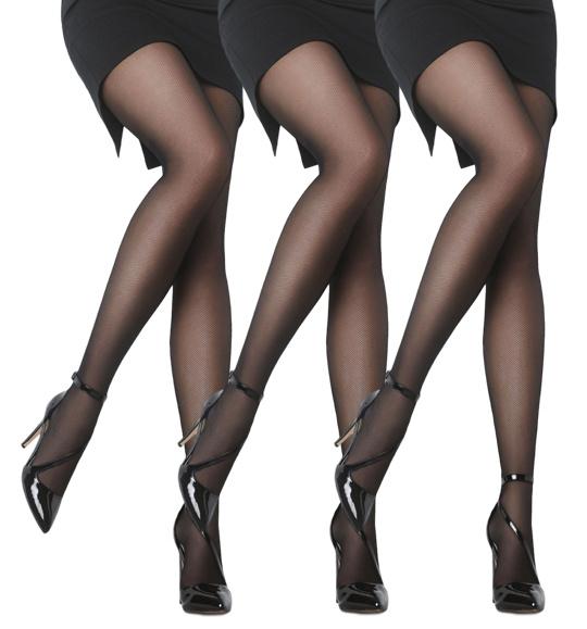 Panty - 3-Pack - Satin soft - 20 Denier - Zwart