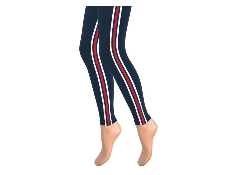 Dames legging - Katoen - Streep - Marine