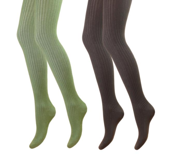 2 Pack Maillots - Meisjes - Rib - Groen-Bruin