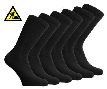 6 paar Bonanza werksokken - Light - Basic - zwart