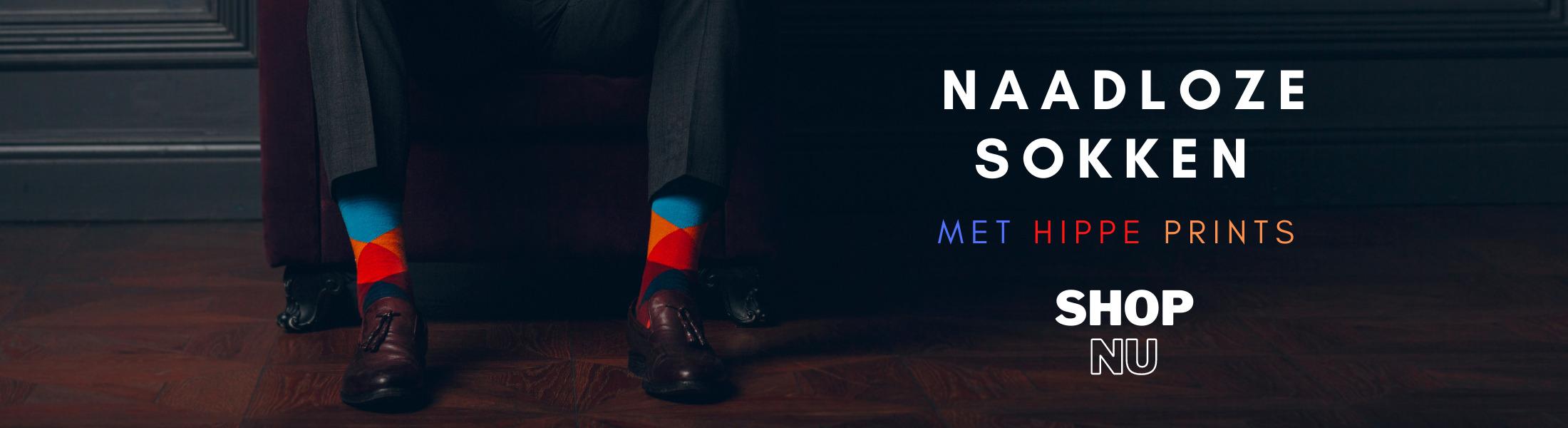 Naadloze sokken met hippe prints