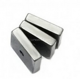 vierkant Hematiet 8 x 8 mm  Platin