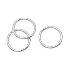 Ringetjes rond nikkel 10x2 mm