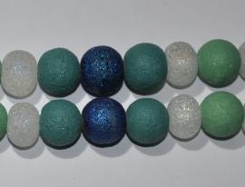 Streng blauw, groen glaskralen