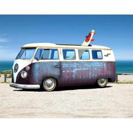 VW T1 busjes blauw