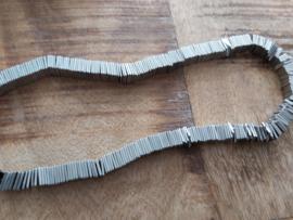vierkant Hematiet 8 x 8 mm  grijs