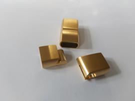 Goud kleuriget sluiting plat