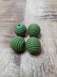 Leger groen met groef