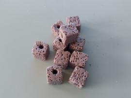 Lava vierkant oud roze