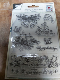 Clear stamp merry christmas