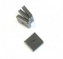 vierkant Hematiet 8 x 8 mm  glanzend