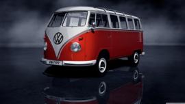 VW T1 busje rood
