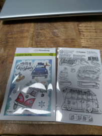 Clear stamp cars christmas