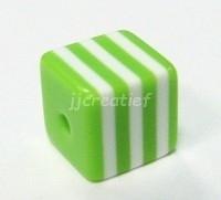 Vierkant groen, wit