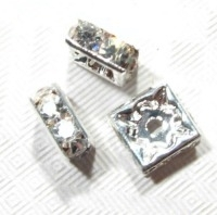 Strass vierkant 10 x 10 mm