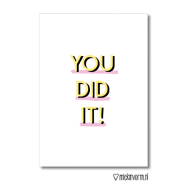 You did it || Ansichtkaart