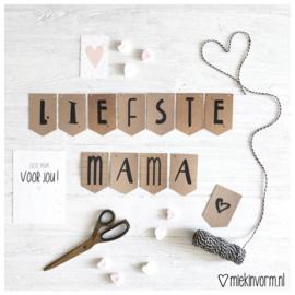 DIY slinger mini-kaartjes || Liefste mama ♡