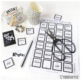 Thuis activiteiten || printable