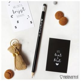 Potlood || zwart || Liefs Sint & Piet