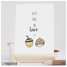 Let's fall in love || Ansichtkaart