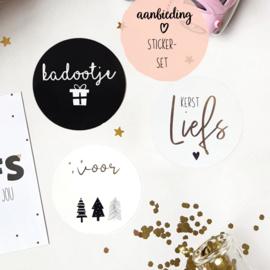 Sticker-set Kerst || 15 stuks