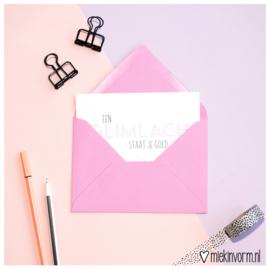 Envelop A6 || paarsroze