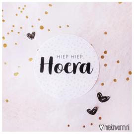 Sticker || Hiep hiep hoera (NIEUW)