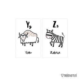 Letterkaartjes dieren || stel zelf samen || prijs  is per kaartje!