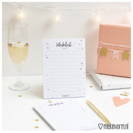 Notitieblok || Wishlist