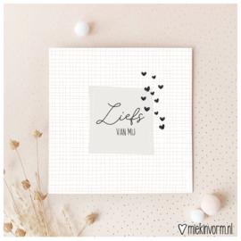Liefs van mij || Dubbele ansichtkaart met envelop