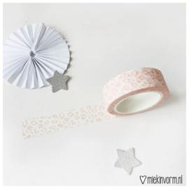 Masking tape || licht roze panterprint