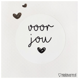 Sticker || Voor jou (wit)