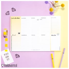 Weekplanner A4 ||  Let's do this || geel