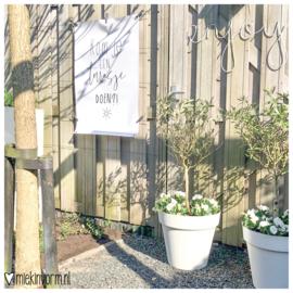 Tuinposter || Kom je een terrasje doen? || lichtbeschadigd