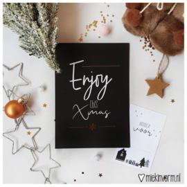 Enjoy this Xmas || Ansichtkaart met goudfolie