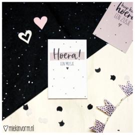 Hoera! een meisje || Mini-kaart