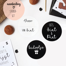 AANBIEDING || Sticker-set Sint || 15 stuks