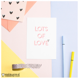 Lots of love || Ansichtkaart