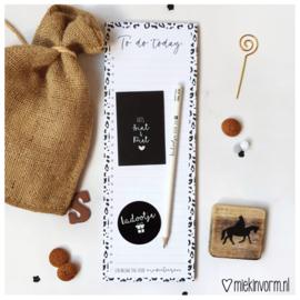 Schoenkadootje || Notitieblok 1/2 A4 + potlood + mini-kaartje