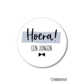 Sticker || Hoera! een jongen