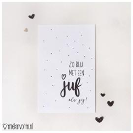 Zo blij met een juf als jij! || Mini-kaart