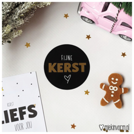 Sticker || Fijne kerst