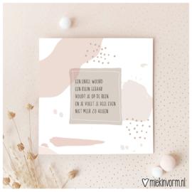 Een enkel woord, een klein gebaar || Dubbele ansichtkaart met envelop